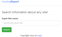 Hostingreport: a distinguishing tool for website's hosting details, SEOs, safety, etc